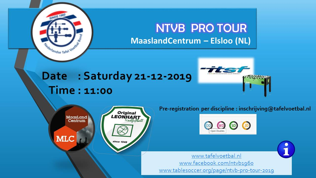 NTVB PRO TOUR 2019 - Doubles in all categories!