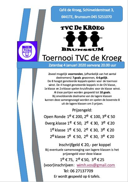 Toernooi TVC De Kroeg