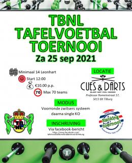 Tilburg Open Doubles  25-9-2021  MAX 70 KOPPELS!!!