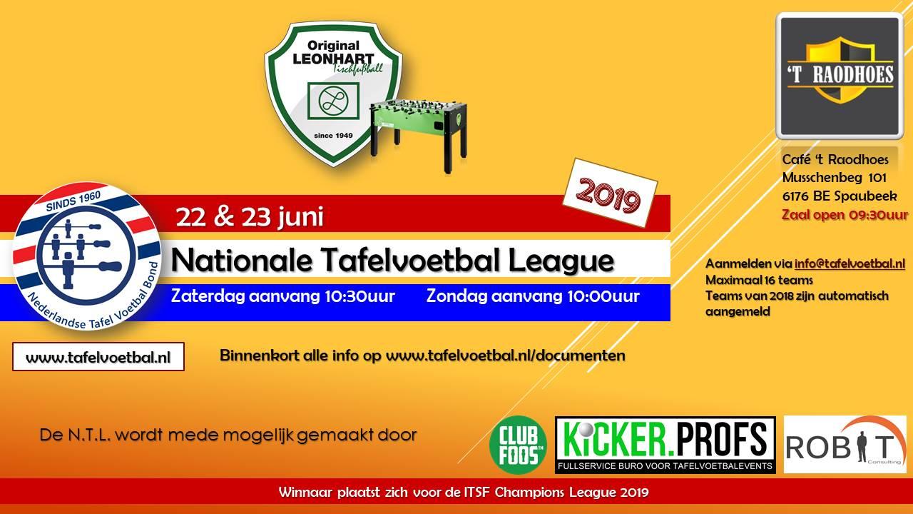 2de Editie Nationale Tafelvoetbal League - op 22 en 23 Juni in Spaubeek